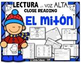 """El mitón - """"Close Reading"""" con  lectura en voz alta (The Mitten)"""