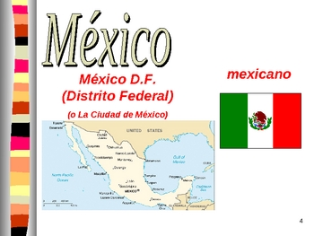 El mundo hispano (PowerPoint):  country maps, flags, and capitals