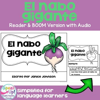 El nabo gigante Spanish The Enormous Turnip Reader ~ for Language Learners