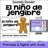 El niño de jengibre ~ Simplified Gingerbread Man Spanish reader & Sentence pages