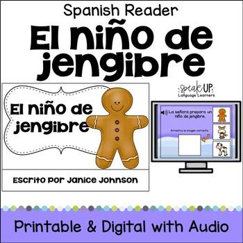 El niño de jengibre ~ Simplified Spanish Gingerbread Man Reader + BOOM™ w Audio