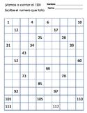 El numero que falta, grafica del 120