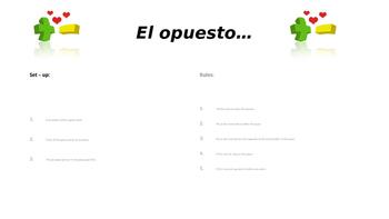 El opuesto - Positive and Negative Words