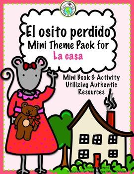 El osito perdido Printable Spanish Minibook HOUSE VOCAB La casa