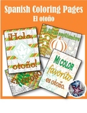 El otoño- Fall/Autumn Spanish Adult Coloring Pages BUNDLE