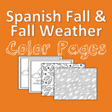 El otoño, Fall Weather Spanish Color Pages