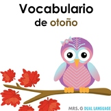 El otoño: Spanish  Fall Vocabulary Cards Writing Center Word Wall
