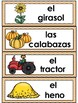 El otoño: Spanish  Fall Vocabulary Cards Writing Center Word Wall