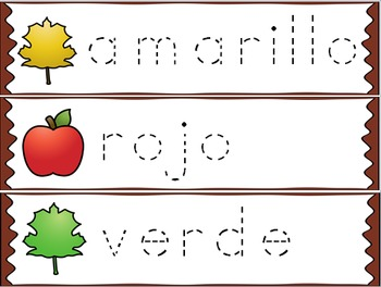 El otoño / Bilingual Kindergarten + ESL Vocabulary Resources for Biliteracy