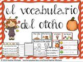El otoño / Bilingual Kindergarten + ESL Vocabulary Resourc