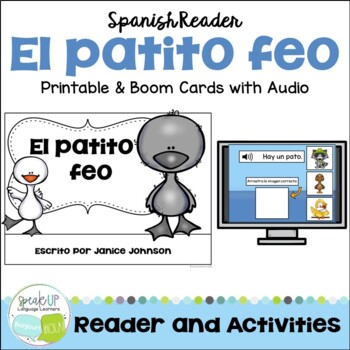 El patito feo ~ Ugly Duckling Simplified Spanish reader & Sentence forming pages