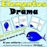 Drama Elements Vocabulary Matching Game - Vocabulario de Elementos de Drama