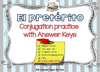 El preterito conjugation practice