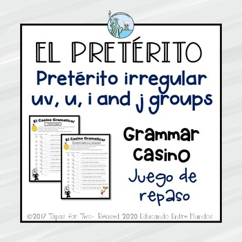 El preterito irregular and irregular groups