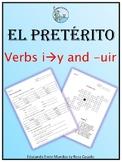 El preterito verbos irregulares i to y