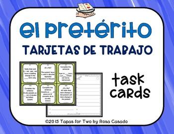 El preterito task cards
