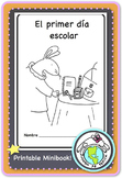 El primer día escolar Back to School Printable Spanish Minibook