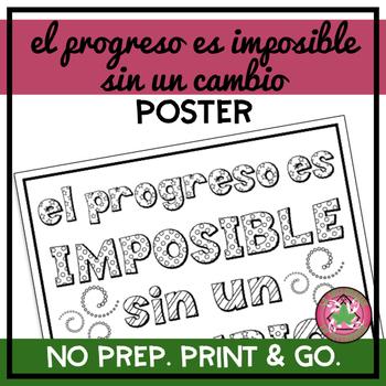 El progreso es imposible sin un cambio Poster