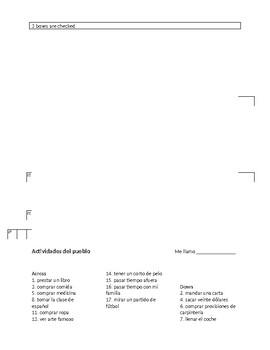 El pueblo - Town (Spanish vocab, activities, project and assessment)