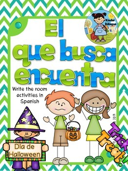 El que busca encuentra (Halloween) Write the room in Spanish