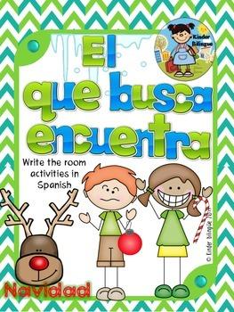 El que busca encuentra (La Navidad) Write the room in Spanish