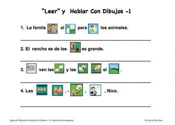 El rancho de los abuelos - Spanish (((Musical Echoing))) For Children