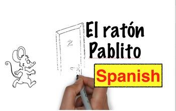Spanish storytelling: El ratón Pablito animated video story