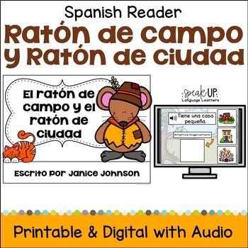 El ratón de campo y el ratón de ciudad Spanish Reader & Sentence forming pages