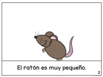 El ratón y el elefante ~ Spanish Mouse & the Elephant Fable Reader ~Simplified