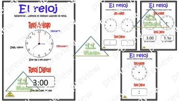 """Anchor Chart """"El reloj""""(Spanish)"""