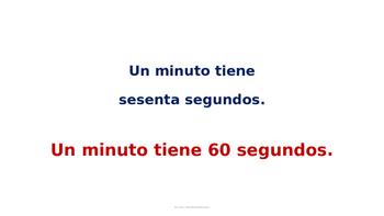 El reloj-Los números del 0 al 60