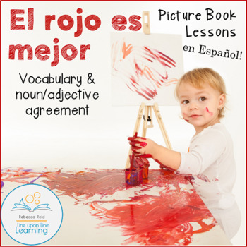 Spanish Noun and Adjective Agreement Lesson based on a Pic