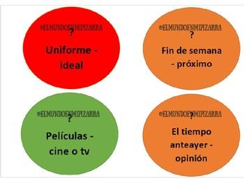 GAME QUESTION/ANSWER (SPANISH) - JUEGO PREGUNTA/RESPUESTA (ESPAÑOL)
