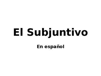 El subjuntivo en español (PowerPoint presentation)