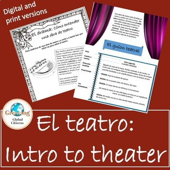 El teatro: Introduction to theater for AP Spanish