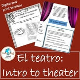 El teatro: Introduction to theater for Spanish classes