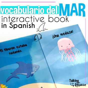 Ocean Themed Spanish Speech Therapy Interactive Vocabulary Book