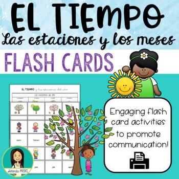 El tiempo, Spanish Weather Flash Cards