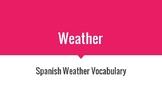 El tiempo - Weather