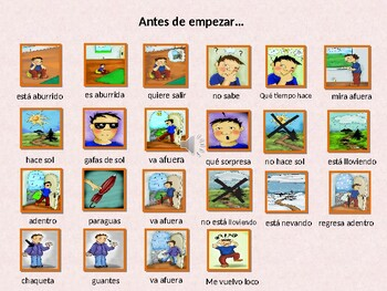 El tiempo loco -Spanish Musical Echoing Slide Show for Comprehensible Input
