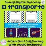 El transporte ~ Spanish Transportation Vocab Digital BOOM Task Cards with Audio