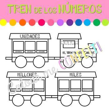El tren de los números - Colour me Confetti