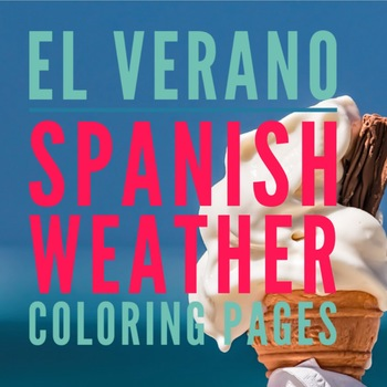 El verano, Spanish Summer Weather Color Pages