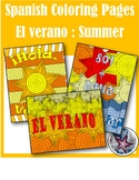El verano/ summer break - End of year Spanish Adult Colori