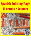 El verano (summer) - End of Year Adult Coloring Pages