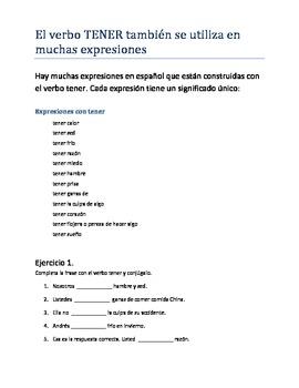 El verbo TENER y sus expresiones.