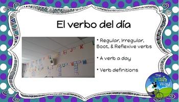 El Verbo del Día - 161 Verbs Daily Practice - Spanish 1- 4