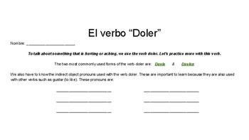El verbo doler - The verb doler - Spanish