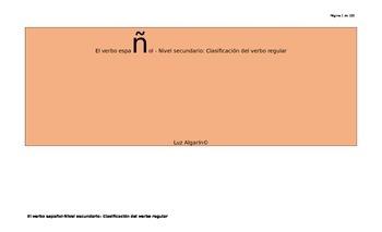 El verbo español-Nivel secundario: Clasificación del verbo