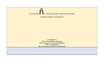 El verbo español - Nivel secundario: Verbos pronominales